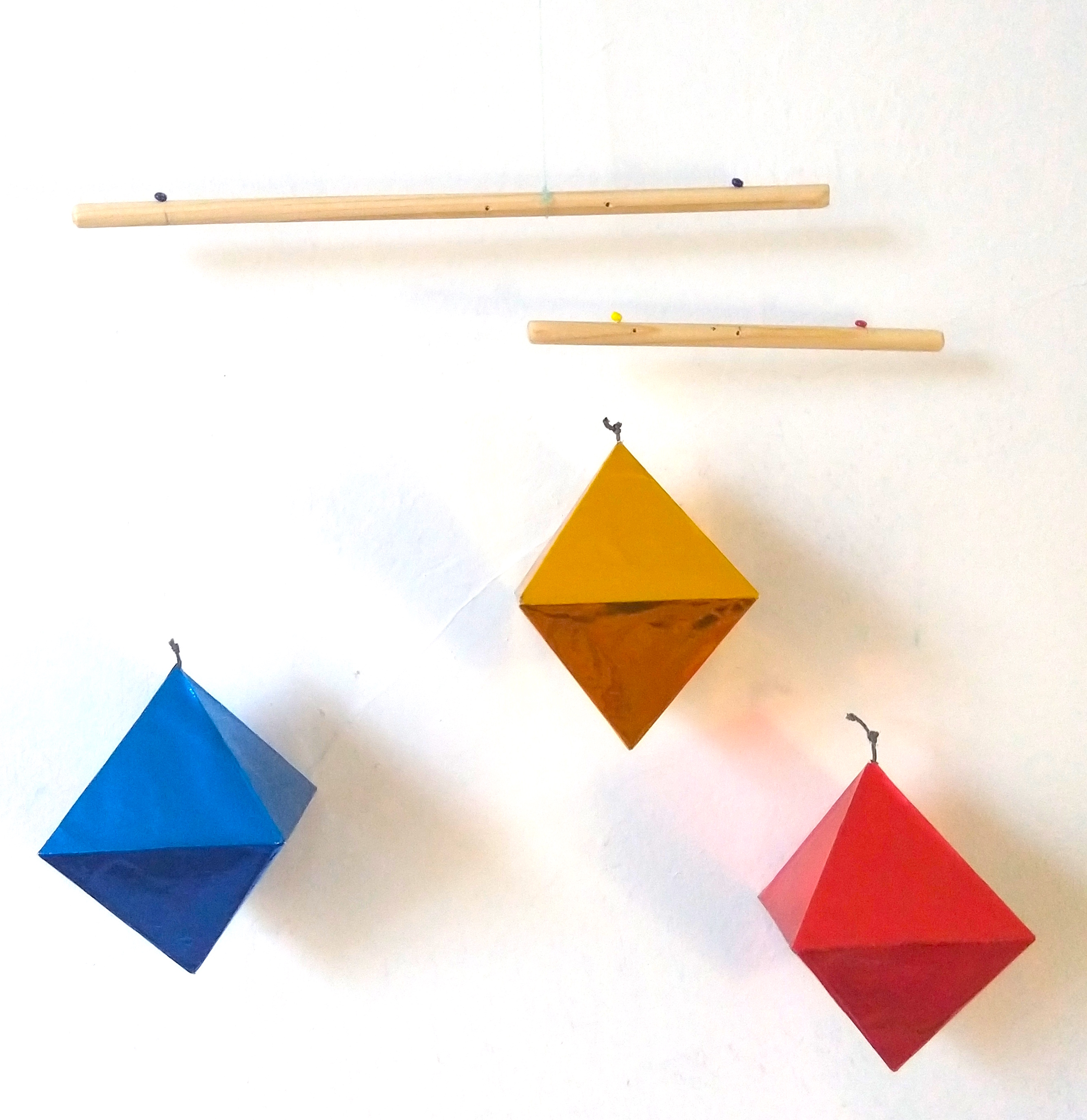 How To Make Origami Seamless Octahedron; DIY paper octahedron ... | 2746x2665